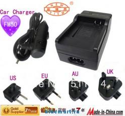 NP-FM500H - зарядное устройство + автомобильное зарядное устройство + штекеры для Sony DCR-PC101 DCR-PC105