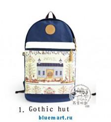 Рюкзак женский с оригинальными рисунками, 4 вида на выбор