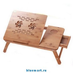 Складной бамбуковый стол для ноутбука (ZS11F)
