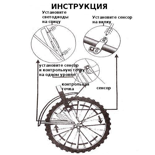 Световая индикация для велосипеда